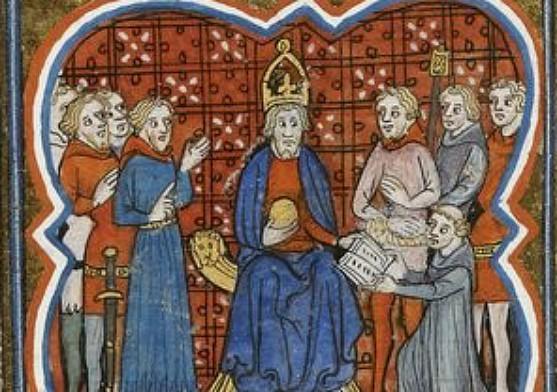 Charlemagne et Éginhard, Bibliothèque nationale de France, cote français 10135