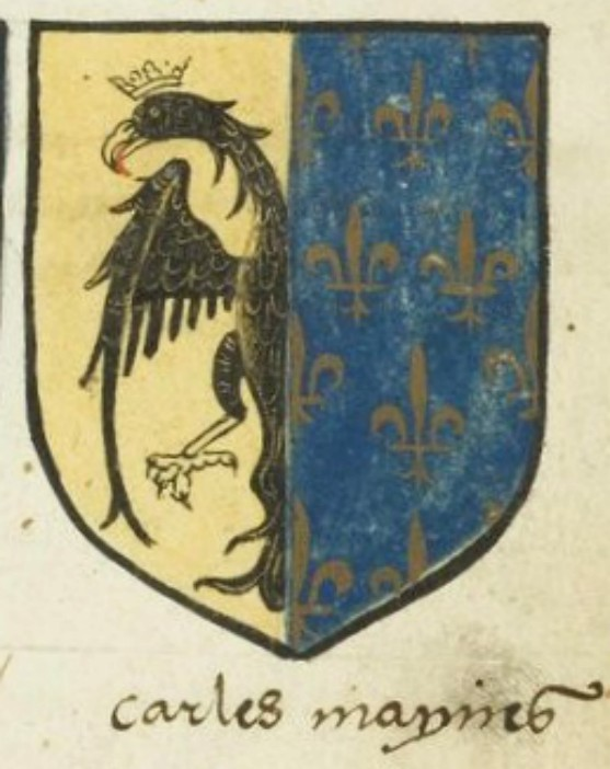 Armoirie de Charlemagne, Bibliothèque municipale de Toulouse, MS 798