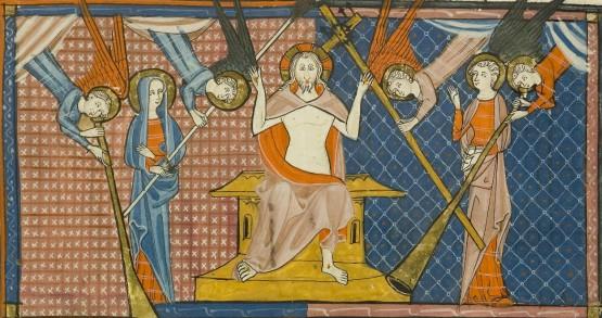 Christ en majesté, enluminure du Missale Romanum, Ms 91