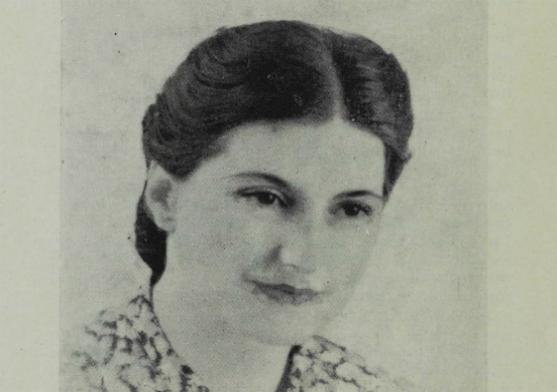 Portrait de Suzanne Dobelmann, dans Bibliothèque municipale de Toulouse : La bibliothèque pour enfants, Bulletin municipal, 1940