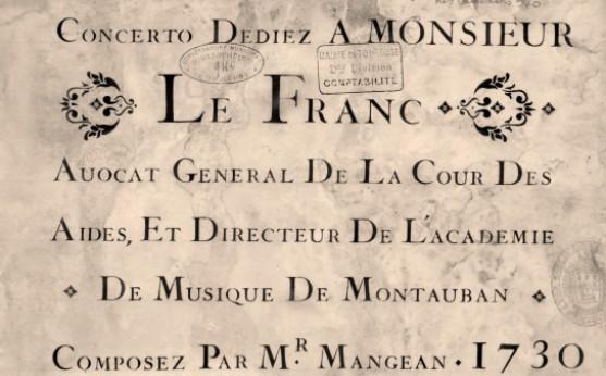 Concerto dediez a Monsieur Le Franc avocat general de la Cour des aides