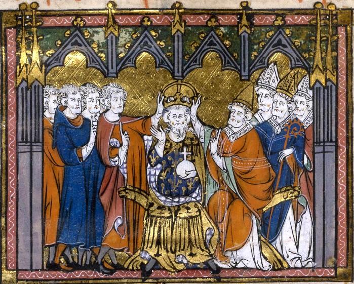Couronnement de Charlemagne, Bibliothèque nationale de France, cote français 2615