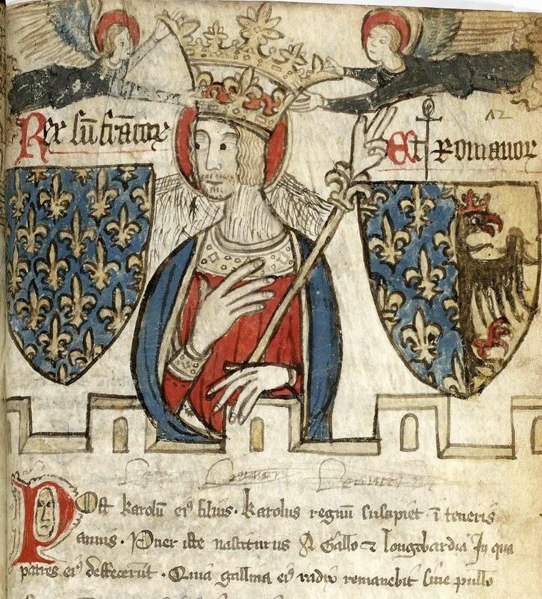 Charlemagne avec armoiries, Bibliothèque nationale de France, cote latin 4935