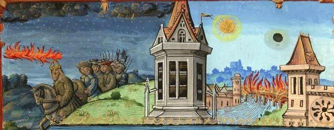Présages de la mort de Charlemagne, Bibliothèque nationale de France, cote français 2820