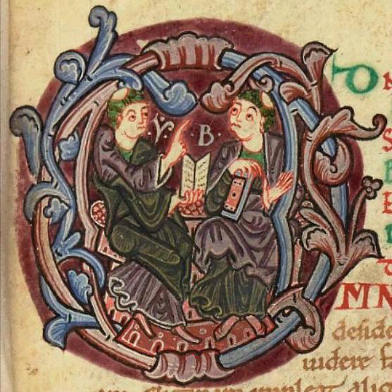 St Isidore et St. Braulion, Bibliothèque nationale de France, cote Latin 7589