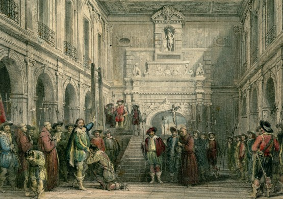 Exécution du duc de Montmorency dans la cour du Capitole (30/10/1632) par Thomas Allom, vers 1840, A-ALLOM (2-22)