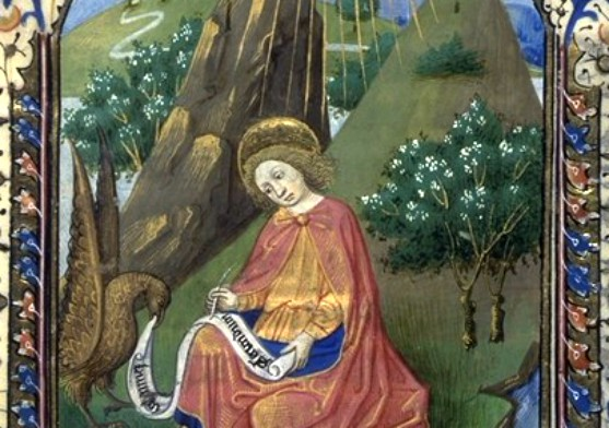 Saint Jean écrivant, Manuscrit 143