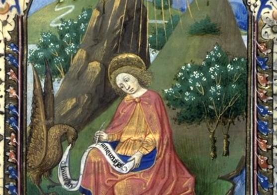 Saint Jean écrivant, Manuscrit 143