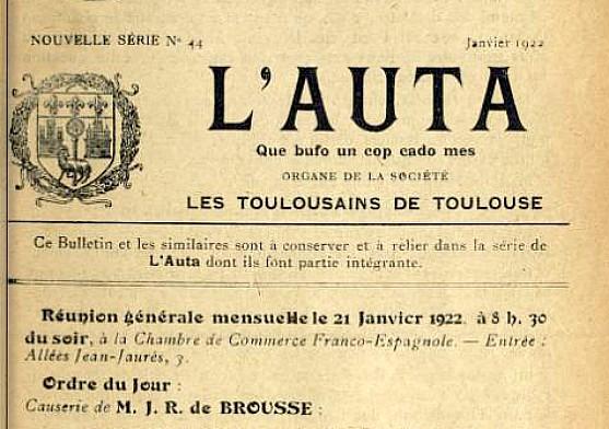 L'Auta, janvier 1922