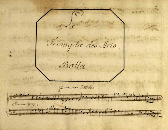 Page de titre du Triomphe des Arts, de Bernard-Aymable Dupuy